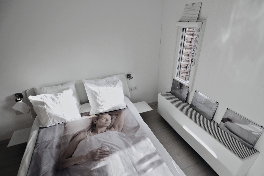 installation view of hotel room by lisette ros