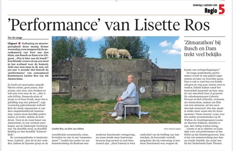 performance van lisette ros in de Noord-Hollandse krant